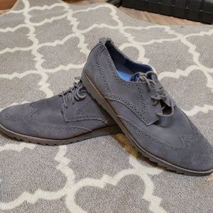 Suede Gray wing tip shoes